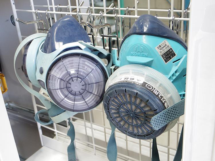 名東区建設会社様 防塵・防毒マスクの除菌 除菌BOX