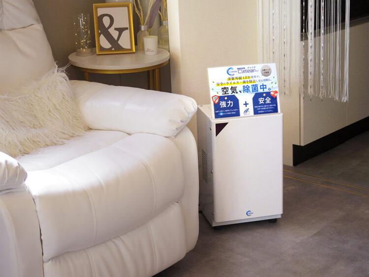名古屋市内ネイルサロン様 空気除菌装置